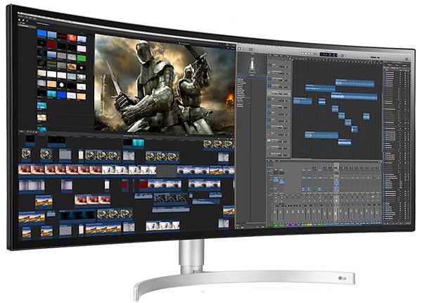 Matériel informatique - écran large pour montage audio et vidéo