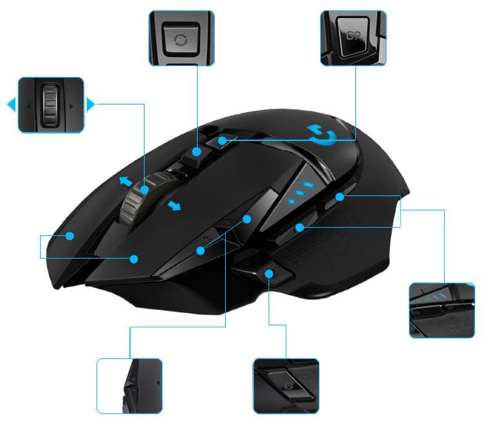 Souris ergonomique Logitech gaming