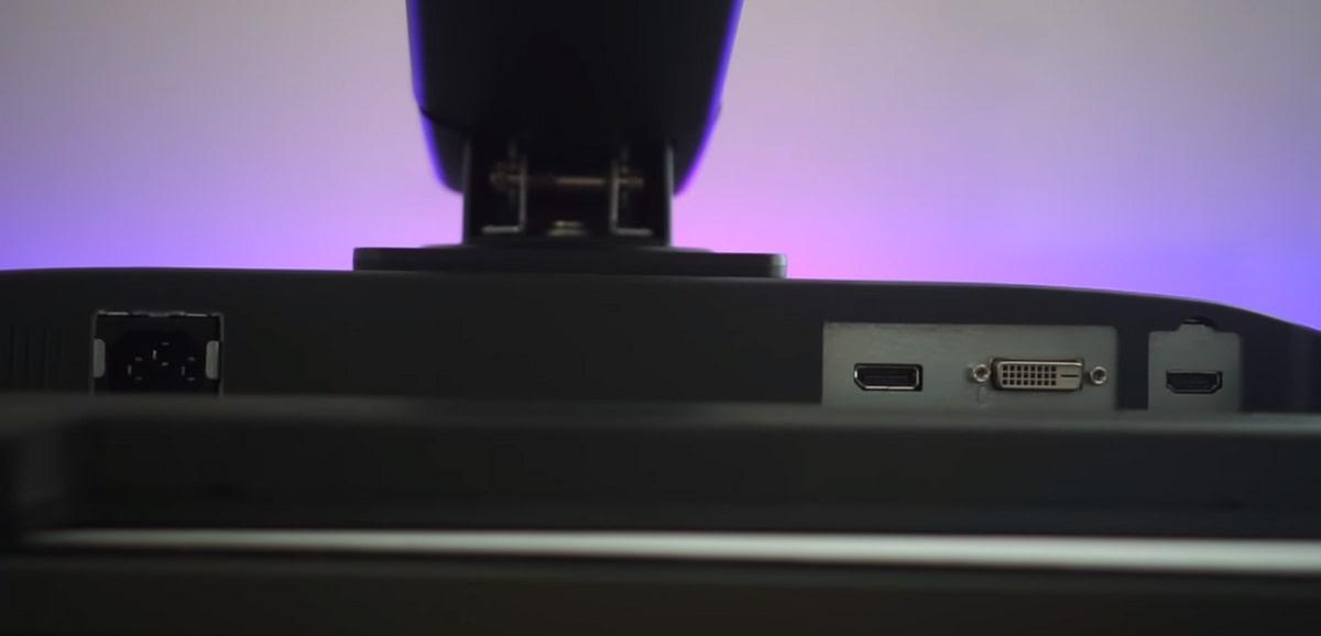 Connecteurs XL2411P : port HDMI DVI et displayport